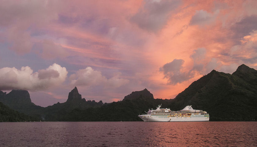 Paul Gauguin Cruises sunset