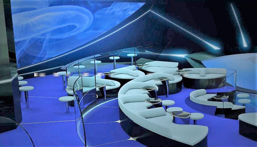 Ponant Underwater Lounge, Blue Eye