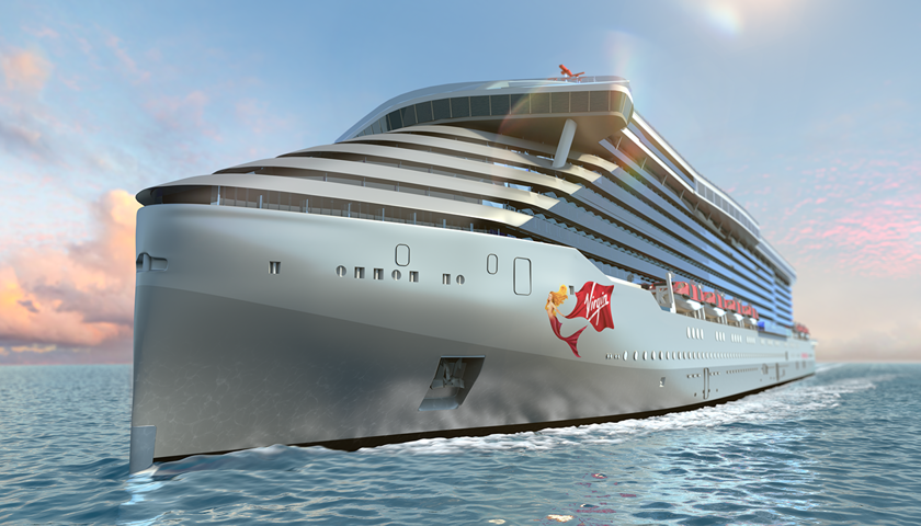 Virgin Voyages ship rendering