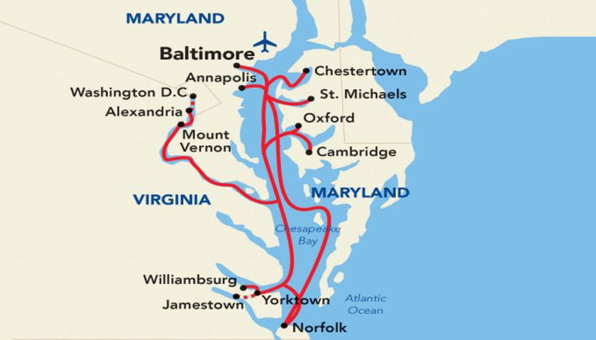 American Constitution map itinerary
