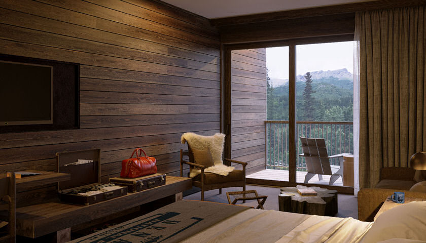 Junior Suite from new rooms, McKinley Chalet Resort