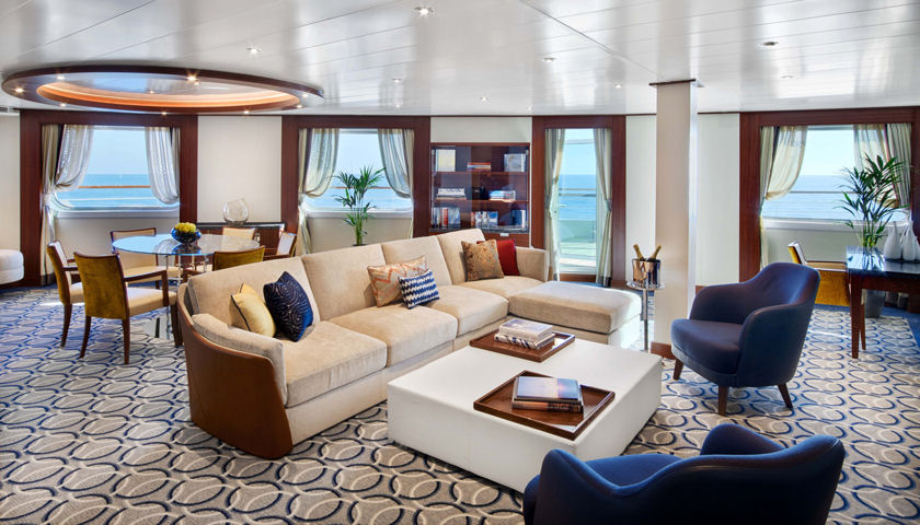 Seabourn Ovation signature suite