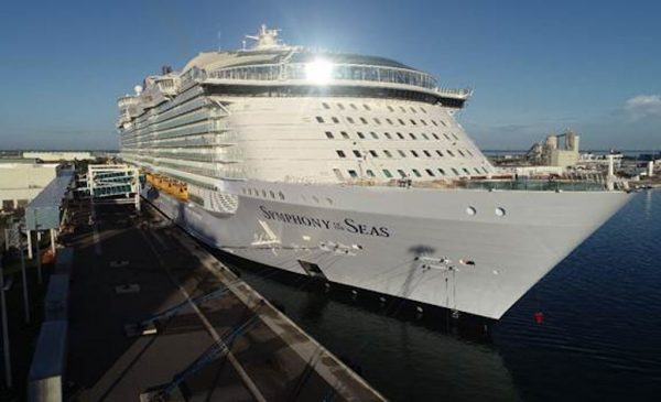 World's Largest Cruise Ship Makes Its U.S. Debut at Port Canaveral